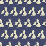 Seamless pattern with UK map. Vector illustration Stock Photo