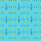 Seamless pattern of Ukrainian national symbols Stock Photography