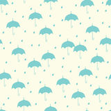 Seamless pattern with umbrella Royalty Free Stock Images