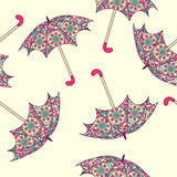 Seamless pattern with an umbrella. Stock Photo