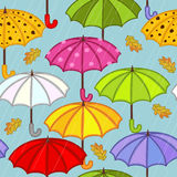 Seamless pattern with umbrella Stock Photography