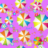 Seamless pattern with umbrellas Royalty Free Stock Photo