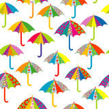 Seamless pattern with umbrellas Royalty Free Stock Images