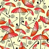 Seamless pattern with umbrellas Stock Image