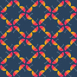Seamless pattern from umbrellas. Abstract seamless Royalty Free Stock Photography