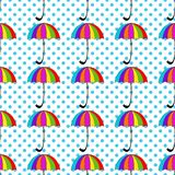 Seamless pattern with umbrellas on background Royalty Free Stock Images