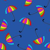 Seamless pattern with umbrellas on background Stock Image