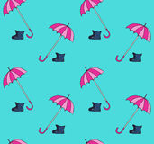 Seamless pattern with umbrellas. Seamless pattern with umbrellas, can be used as cartoon background, fabric print, wrapping paper, web page backdrop, wallpaper Stock Photo