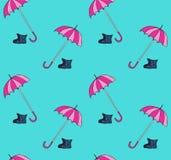Seamless pattern with umbrellas. Stock Photo