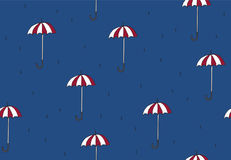 Seamless pattern with umbrellas. Royalty Free Stock Photography