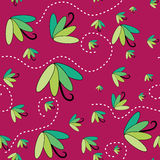 Seamless pattern with umbrellas flying Stock Image