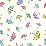 Seamless pattern with a umbrellas Royalty Free Stock Photo