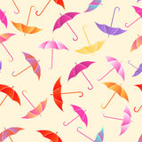 Seamless pattern umbrellas Stock Photos