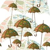 Seamless pattern with umbrellas. Vector illustration of a seamless pattern with umbrellas Stock Image