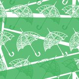 Seamless pattern with umbrellas. Vector illustration of a seamless pattern with umbrellas Stock Photography