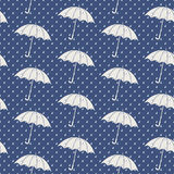 Seamless pattern with umbrellas. Vector illustration Royalty Free Stock Images