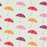 Seamless pattern with umbrellas. Vector illustration Royalty Free Stock Image