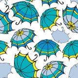 Seamless pattern with umbrellas Stock Photos