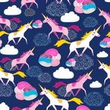 Seamless pattern Unicorns Stock Images
