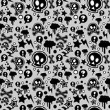 Seamless pattern, urban or punk pop feel Royalty Free Stock Photos