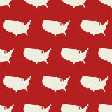 Seamless pattern with USA map. Vector illustration Stock Images