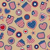 Seamless pattern of USA symbols Royalty Free Stock Photography