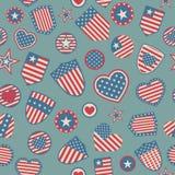 Seamless pattern of USA symbols Royalty Free Stock Photo