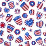 Seamless pattern of USA symbols Stock Photography