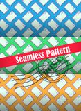 Seamless pattern with the use of envelopes. Colorful seamless patterns for making wrapping paper, backgrounds Royalty Free Stock Image
