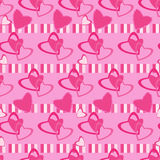 Seamless pattern Valentine day motives Stock Images