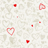 Seamless pattern with valentine hearts royalty free illustration