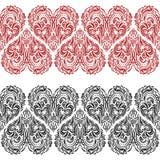 Seamless Pattern, Valentine Hearts Stock Photos