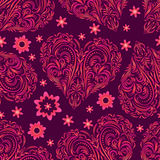 Seamless Pattern, Valentine Hearts Stock Image