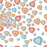 Seamless pattern with valentine hearts Royalty Free Stock Photography