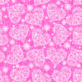 Seamless Pattern, Valentine Hearts Royalty Free Stock Photo