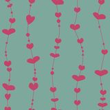 Seamless pattern with valentine hearts Stock Photo