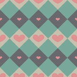 Seamless pattern with valentine hearts Stock Images