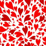 Seamless pattern with valentine hearts for your Stock Photography