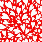 Seamless pattern with valentine hearts for your Stock Images
