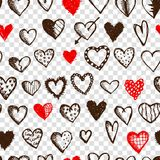 Seamless pattern with valentine hearts for your Stock Image