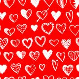 Seamless pattern with valentine hearts for your Royalty Free Stock Image