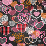 Seamless pattern of valentine love hearts Royalty Free Stock Image