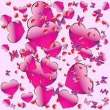 Seamless pattern on Valentine's Day Stock Images