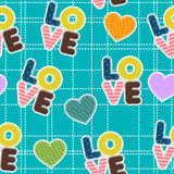 Seamless pattern for Valentine S Day Stock Images