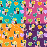 Seamless pattern for Valentine S Day Stock Photo