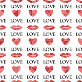 Seamless pattern  for Valentine's Day Stock Photo