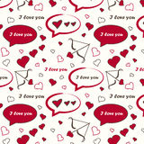 Seamless pattern on Valentine's Day Stock Photography