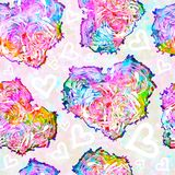 Seamless pattern on Valentine's Day. Hearts. EPS10 Royalty Free Stock Photography