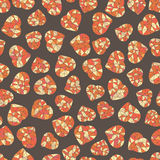 Seamless pattern. Valentine's Day. Orange hearts. Royalty Free Stock Photography