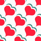 Seamless pattern Valentine`s Day red heart background Stock Photography